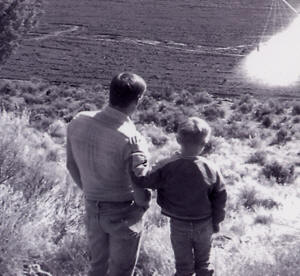 Alan Parks and son, Dan (age 5) at the ranch